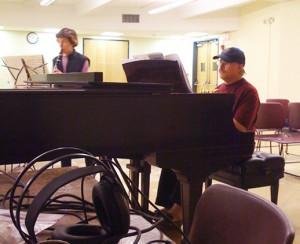 Ron-Chris Rehearsing