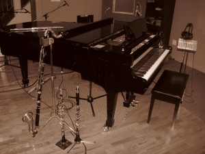 recording studio, different hue